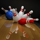 Broken Skittles In Bowling