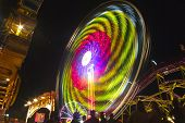 A Carnival wheel in motion