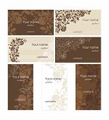 vector set of the business cards