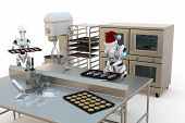 Robots Making Holiday Cookies