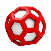 3D Icosahedron Abstract Model