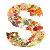 Letter S Made Of Food