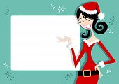 Pretty Santa Girl Poster