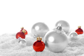 picture of christmas ornament  - snow baubles - JPG