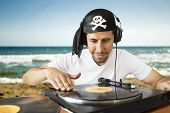 Dj Mixing  Pirate On The Beach