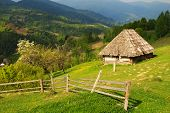 The Picturesque Little Farm In The Carpathian Mountains, Mizhhiria