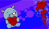 rhino baby cute valentine background