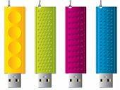 Various Usb Sticks With Ropes
