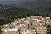 The mountain village of Gianades on Corfu island, Greece