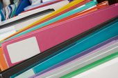 Boxes Of Multi-coloured Folders