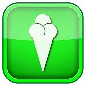 Ícone brilhante quadrado verde