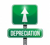 Depreciation Road Sign Illustration Design