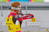 SEEFELD, AUSTRIA - JANUARY 19 Aidan Millar of team Canada places 9th in the mixed biathlon relay eve