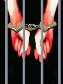 Illustration of hands locked in handcuffs