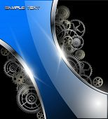 Abstract background glossy with gears, vector illustration.