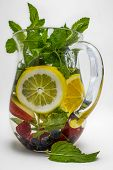 image of infusion  - A refreshing pitcher of water infused with lemon - JPG