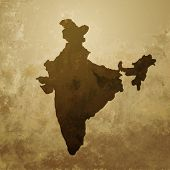 vector indian map design illustration