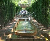 Fountain In The Gardens Of Hort Del Rei