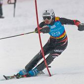 PATSCHERKOFEL, AUSTRIA - JANUARY 21 Istok Rodes (Croatia) places 9th in the men's slalom on January