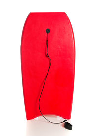 picture of boogie board  - A red boogie board on a white background - JPG
