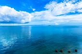 Blue sky, sea and four stones - Okinawa ocean