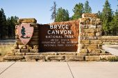 Bryce Canyon National Park Entrance Sign