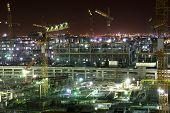 Construction Site At Night. Doha