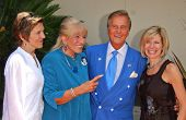 Cherry Boone and Shirley Foley Boone with Pat Boone and Debby Boone at the Ceremony honoring Mike Cu