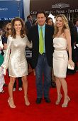 Kelly Preston with John Travolta and Michelle Pfeiffer at the Los Angeles premiere of