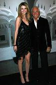 Mischa Barton and Giorgio Armani at the Giorgio Armani Prive Show to celebrate the Oscars. Green Acres, Los Angeles, CA. 02-24-07