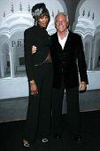 Naomi Campbell and Giorgio Armani at the Giorgio Armani Prive Show to celebrate the Oscars. Green Acres, Los Angeles, CA. 02-24-07