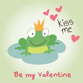 Valentine's day kiss me prince frog