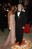 George Lucas and guest at the 2007 Vanity Fair Oscar Party. Mortons, West Hollywood, CA. 02-25-07