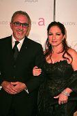 Emilio Estefan and Gloria Estefan at the 2007 Elton John Aid Foundation Oscar Party, Pacific Design
