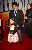 Erik Estrada and daughter at the world premiere of
