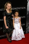 Courtney Taylor Burness and Shyann McClure at the World Premiere of