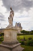 Jardin De Tuileries In Paris City