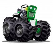 stock photo of tractor  - Vector Cartoon Tractor - JPG