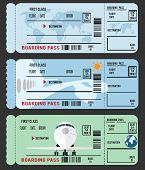 foto of boarding pass  - boarding passes  - JPG