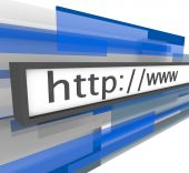 Website-Adresse bar http und www