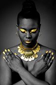 African Tribal In Gold