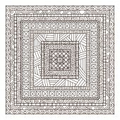 Original drawing tribal doddle rectangle.