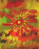 Autumn Flower Oil Painting poster