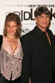 Eric Roberts and wife Eliza at the Gridlock New Years Eve 2007 Party, Paramount Studios, Los Angeles