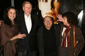 Sumner Redstone and wife Paula with Danny DeVito and Rhea Perlman at the Los Angeles Premiere of