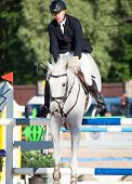 Saint Petersburg-july 05: Rider Matas Petraitis On Cattio In The Csi3*-w/csiyh1* International Jumpi