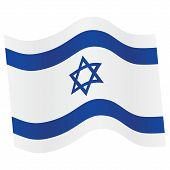 Israel Flag. Vector illustration.