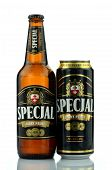 Specjal beer isolated on white background