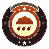 Weather or storm icon poster