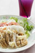 Chicken Salad Topped With Cream